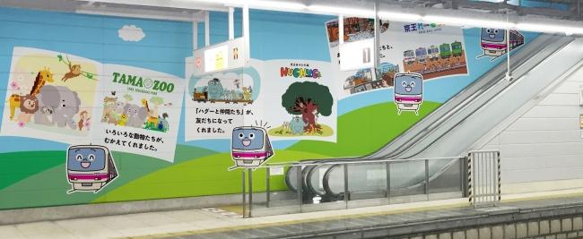 高幡不動駅1番線ホーム