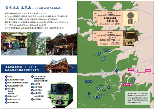 日本遺産記念乗車券 中面