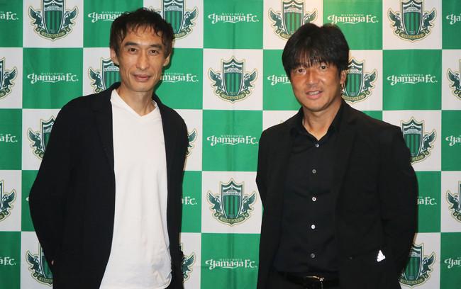 (左)ライズTOKYO代表 宮崎誠司 ・(右)松本山雅FC 名波浩監督