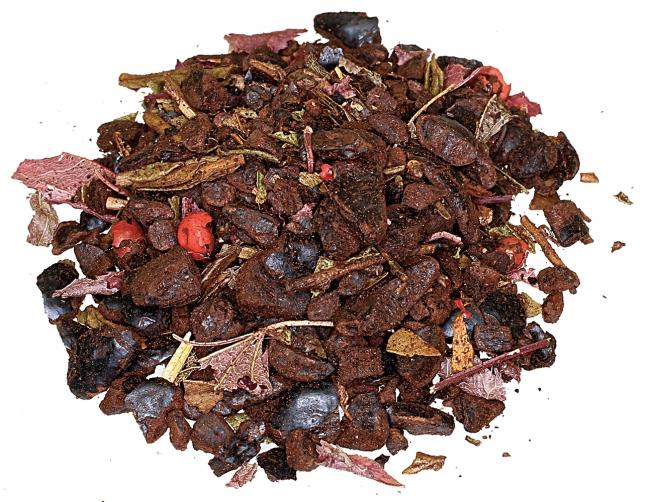 茶葉には小豆、黒豆、もみじがブレンド