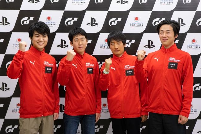 左から、広島県 少年の部・1位の橋本蕗維斗選手、2位の奥平凌矢選手。一般の部・1位の井上翔太郎選手、2位の唐澤勇樹選手。