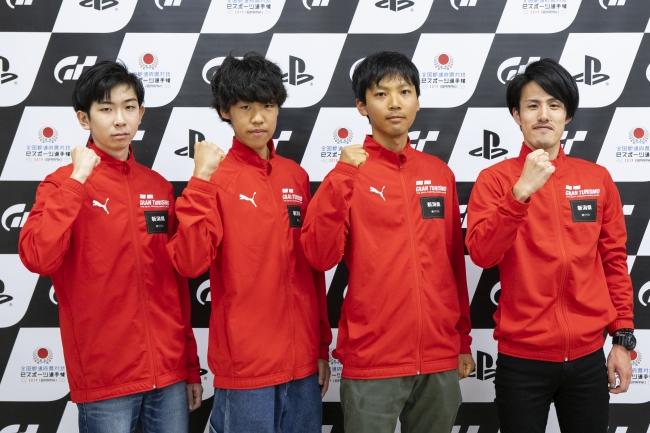 左から、新潟県 少年の部・1位の米倉大翔選手、2位の小林雄太選手。一般の部・1位の渡辺亮太選手、2位の草野貴哉選手