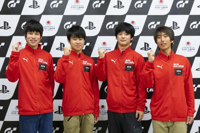 左から、長野県 少年の部・1位の藤田千尋選手、2位の山川凌河選手。一般の部・1位の熊谷拓真選手、2位の西澤翔吾選手