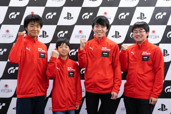 左から、福島県 少年の部・1位の鈴木聖弥選手、2位の高田陽大選手。一般の部・1位の小倉祥太選手、2位の西山将貴選手。