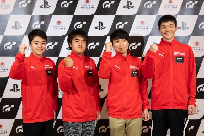左から、群馬県 少年の部・1位の荻野煌晟選手、2位の齊藤翔選手。一般の部・1位の長澤諒選手、2位の中澤大輔選手。