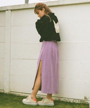 スリットラップスカート