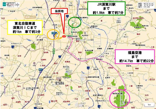「DPL須賀川」周辺地図