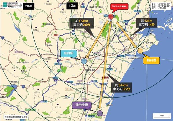「DPL仙台宮城利府Ⅰ」周辺地図