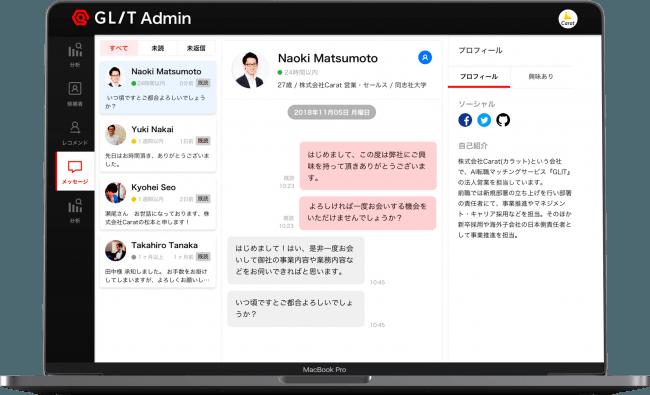 メッセージ管理画面