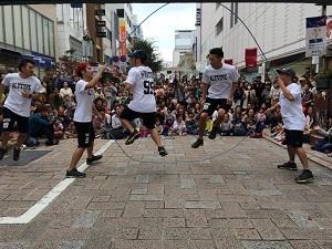 日本ダブルダッチ協会によるパフォーマンス