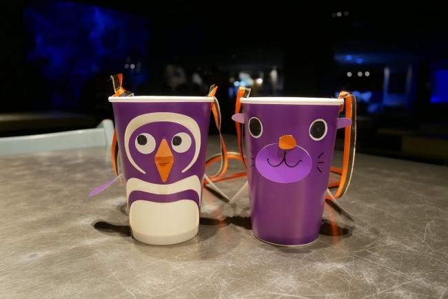 ペンギンとオットセイのハロウィンカップイメージ