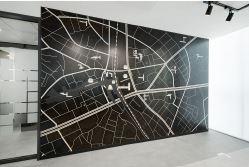 地図をモチーフにしたアート