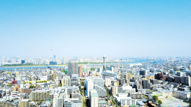 東京都江戸川区上空