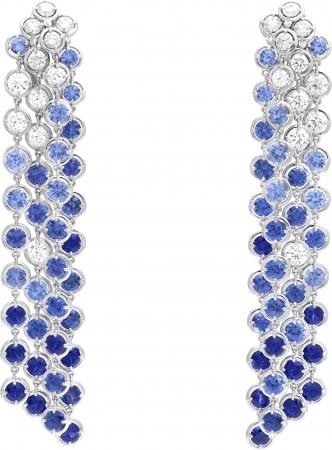 ブリュム ド サフィール イヤリング(ホワイトゴールド、ブルーサファイア、ダイヤモンド)