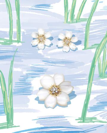 「Un matin dans la neige」(雪の朝)の一コマ