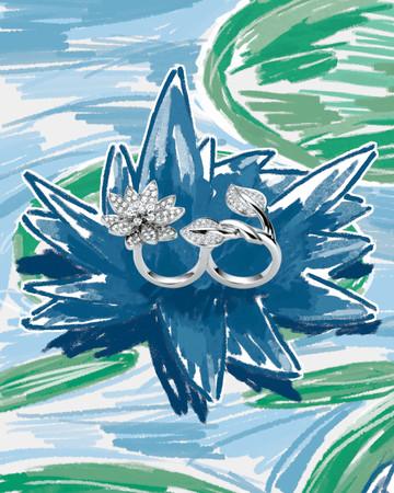「Bassin givre」(霜が降りた池)の一コマ