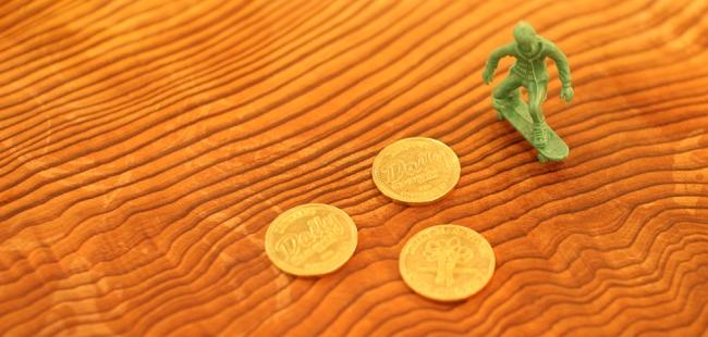 せんべろ用のコインの単位は「セロリ」。1000円で4枚購入できる。
