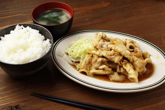 豚生姜焼き定食870円 or コイン3枚