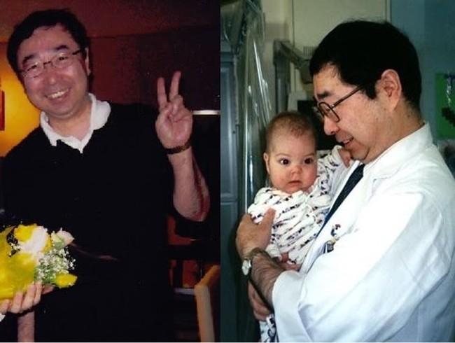 2004年当時の写真。国立成育医療研究センターに入院していた頃のタイラーと、主治医の熊谷昌明先生