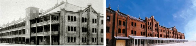 創建時と現在の赤レンガ倉庫