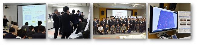 開催風景(左から:コンペティション、ポスター発表・モデル展示、集合写真、「artisoc」イメージ)