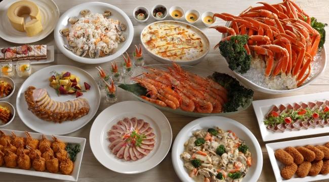 バイキング&カクテルラウンジ「トップ オブ ミヤコ」ディナーブッフェ 料理イメージ
