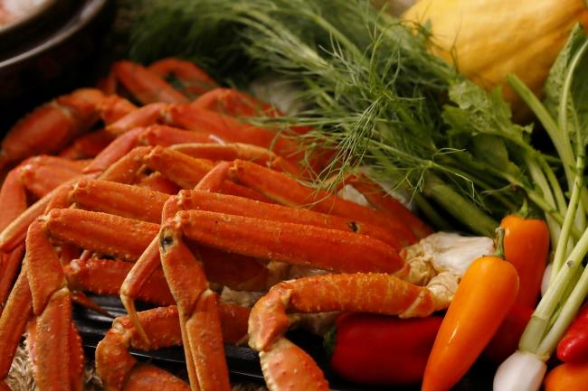 ディナーには、  大好評の「蟹」が登場!!!