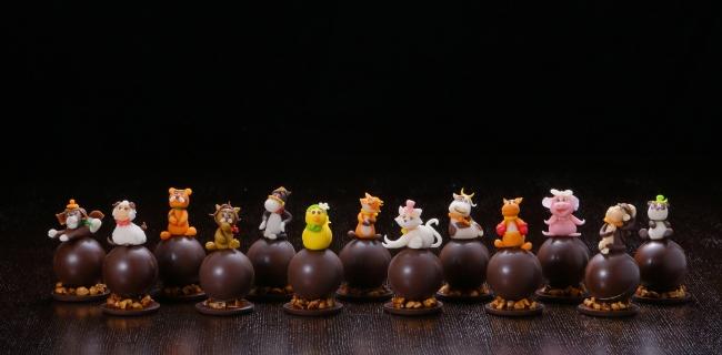 表情豊かな「アニマルショコラ」は全13種類