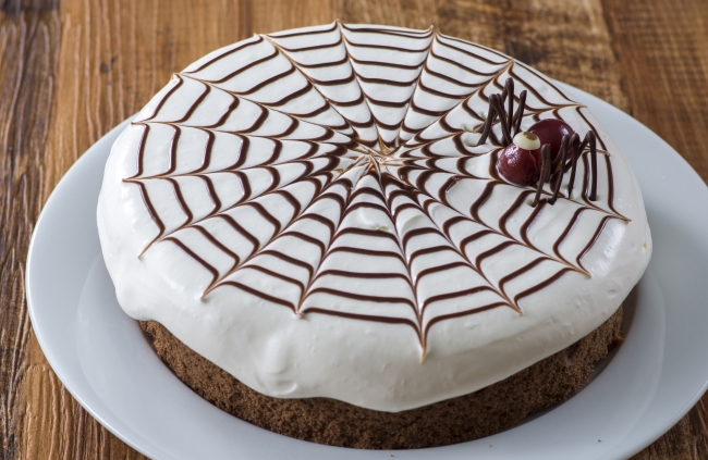 スパイダーチョコケーキ