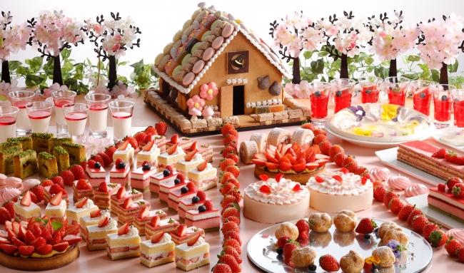 いちごと桜のスイーツブッフェ ヘンゼルとグレーテル第2章「お菓子の家とお花畑」
