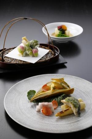 """《日本料理》4月「旬彩」テーマは""""筍"""""""