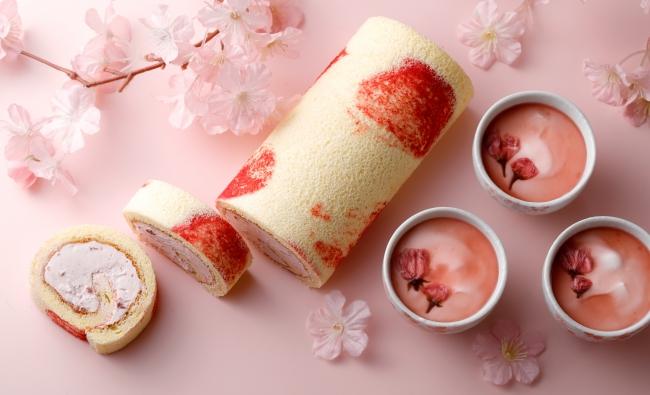 桜スイーツ(桜香、桜ロール)