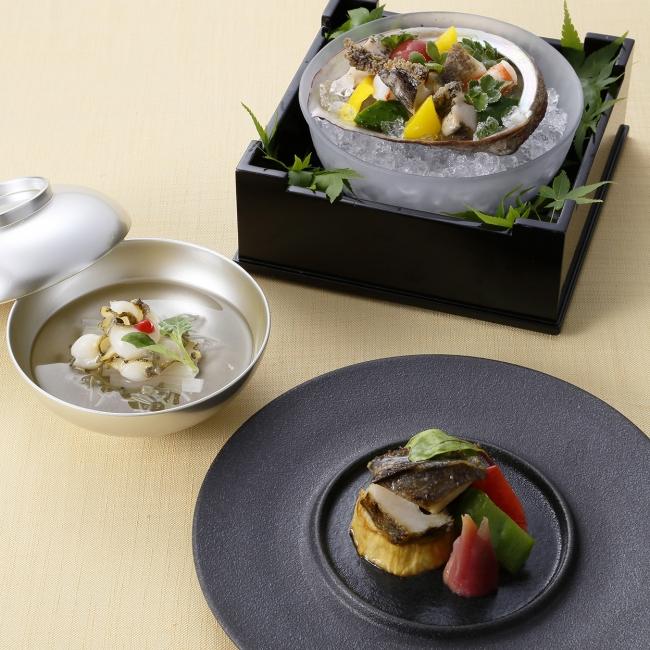 """《日本料理》8月「旬彩」テーマは""""鮑"""""""