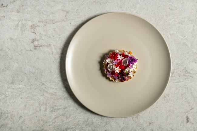 ディナー:南国サーモンと燻製オイル パータフィロ