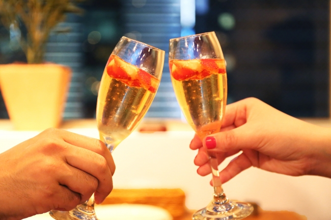 苺の乾杯スパークリングワイン