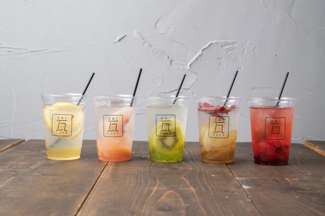 フルーツシロップ×お茶orソーダ