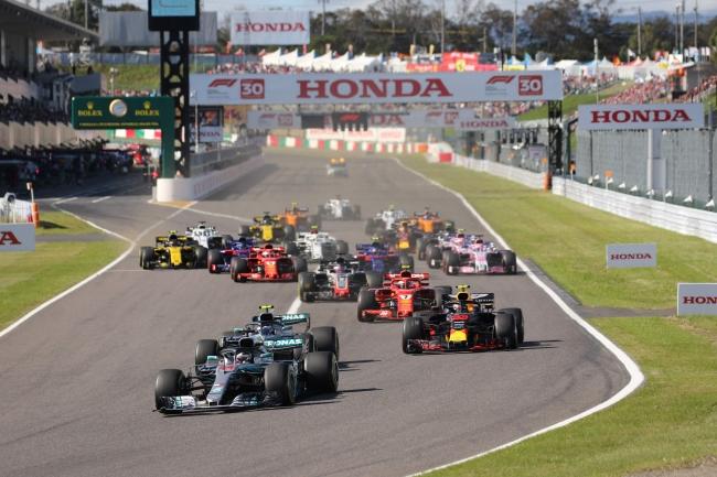 2018年F1日本グランプリスタートシーン