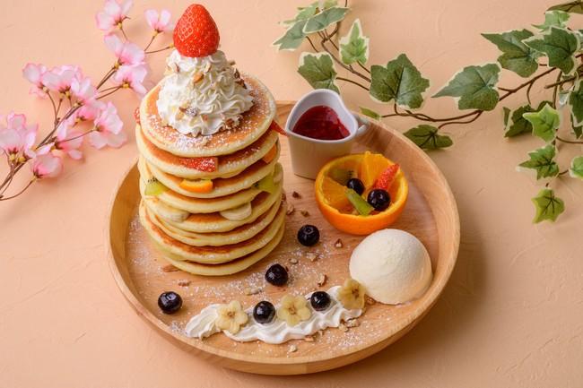 フルーツ収穫ポタジェンヌ タワーパンケーキ