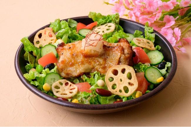 7種の野菜と豆のジューシーグリルチキン丼