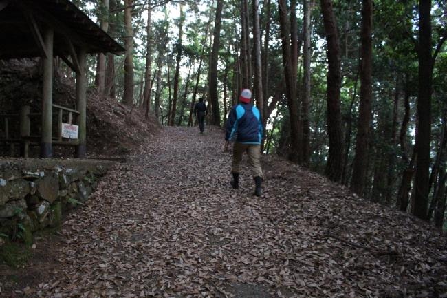東海自然歩道のコースの一部、かのような山道を歩いていきます。
