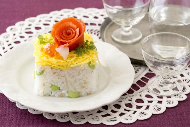 <花咲くちらし寿司>