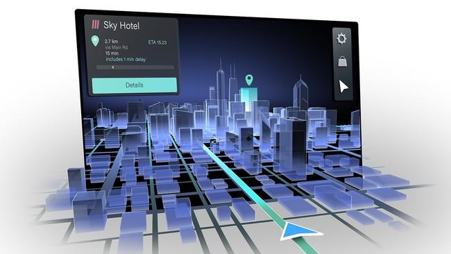 自然な3Dナビゲーション画像により、より直感的なユーザーエクスペリエンスを実現します。