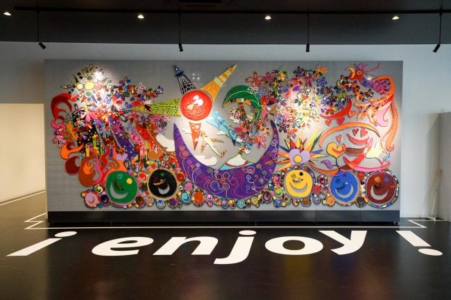 日本財団パラアリーナのエントランスに展示のレゴ壁画が初の地方お披露目!