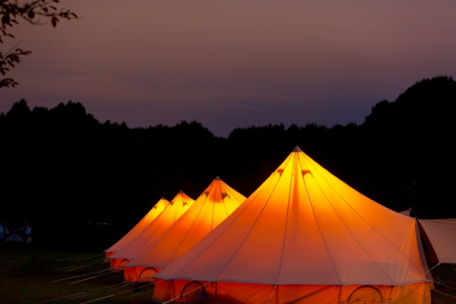 宿泊テントの様子