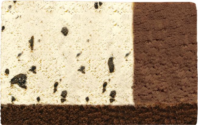クッキー&バニラ+チョコレート(チョコレートスポンジ)