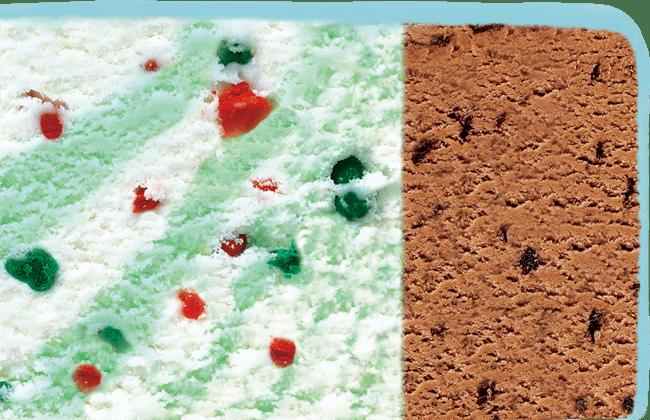 左:ポッピングシャワー、  右:チョップドチョコレート