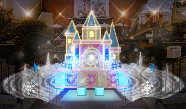 メインのイルミネーションは氷の結晶に彩られたロマンティックなカリヨン城(画像はイメージ)