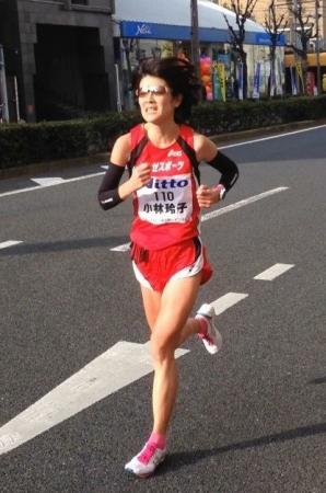 コーチでもある小林選手は、2017年大阪国際女子マラソンに参加、「グッドラン賞」を受賞しました
