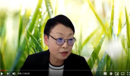 埼玉医科大学 医学部 社会医学 亀井 美登里教授 オンライン講演会でWithコロナ時代のヘルスケアについて説明