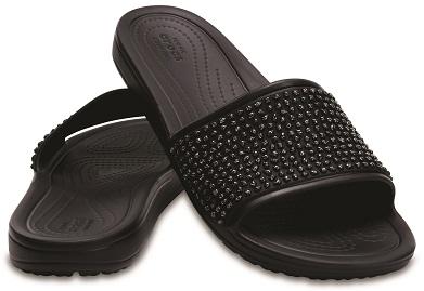 crocs sloane embellished slide w